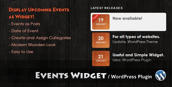 Events Widget  #codecanyon