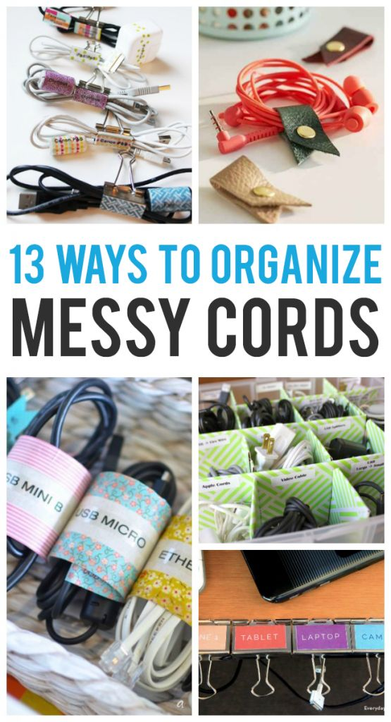 13 Ways To Organize All Those Cords