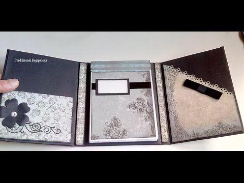 A-4:Tutorial  scrapbooking libreta Mirabelle paso a paso. Parte 1 de 3 - YouTube
