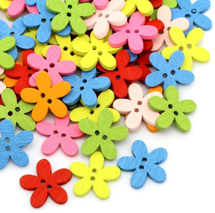 Tiny Flower buttons | 6 Pack