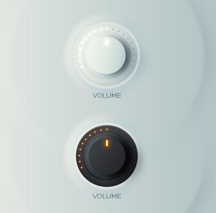 #Volume #Knobs, #Dark #Free #Light, #PSD #Resource