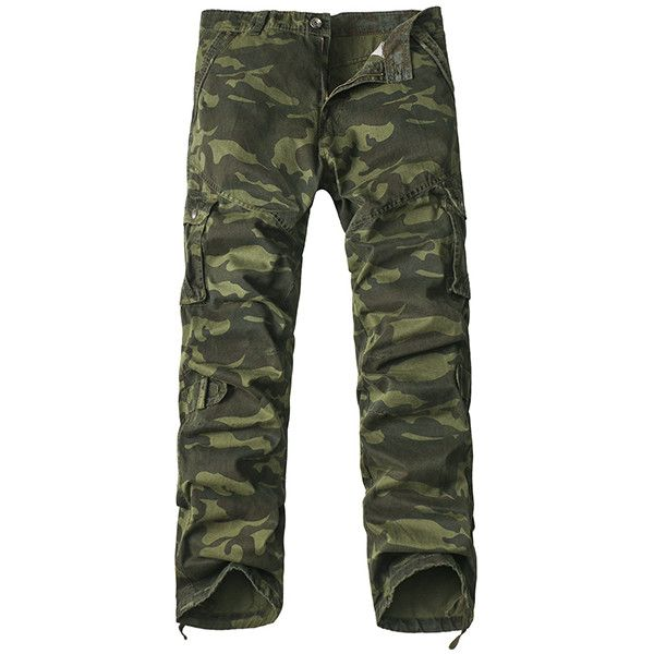 Mens Cargo Pants Multi-pocket Camo Tactical Regular Fit Outdoor Spring... ($31) ❤ liked on Polyvore featuring men's fashion, men's clothing, men's pants, men's casual pants, army green, men pants & shorts, mens zip off cargo pants, mens olive green cargo pants, mens cargo pants and mens zip off pants