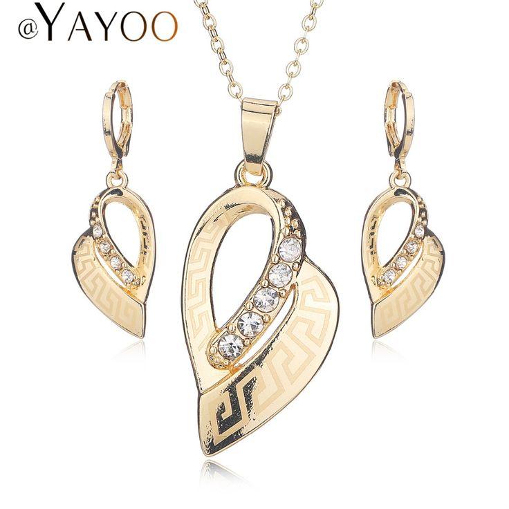 Pozłacane Zestawy Biżuterii Dla Nowożeńców ślubne Dla Kobiet Afryki Koraliki W Stylu Vintage Kolczyki Naszyjnik Imitacja Kryształ Sukienka Akcesoria