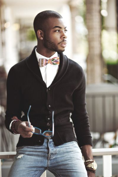 I like everything except the bow tie... Nice  Black men fashion  Fathers Love Free Information on how to (Make Money Online)  http://ibourl.com/1nss