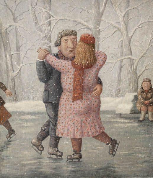 Владимир Любаров  Парное катание, 2007   Холст, масло, 70 х 60 см