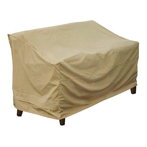 Superb Seasons Sentry CVP Love Seat Bench Cover Sand Seasons Sentry http
