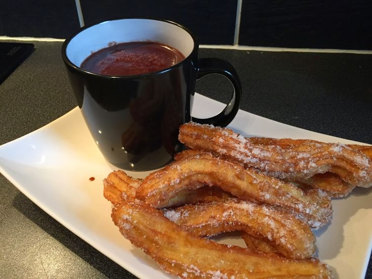 Churros and Spanish Hot Chocolate