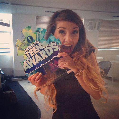 She won the award for best british youtuber! :D GO ZOE!