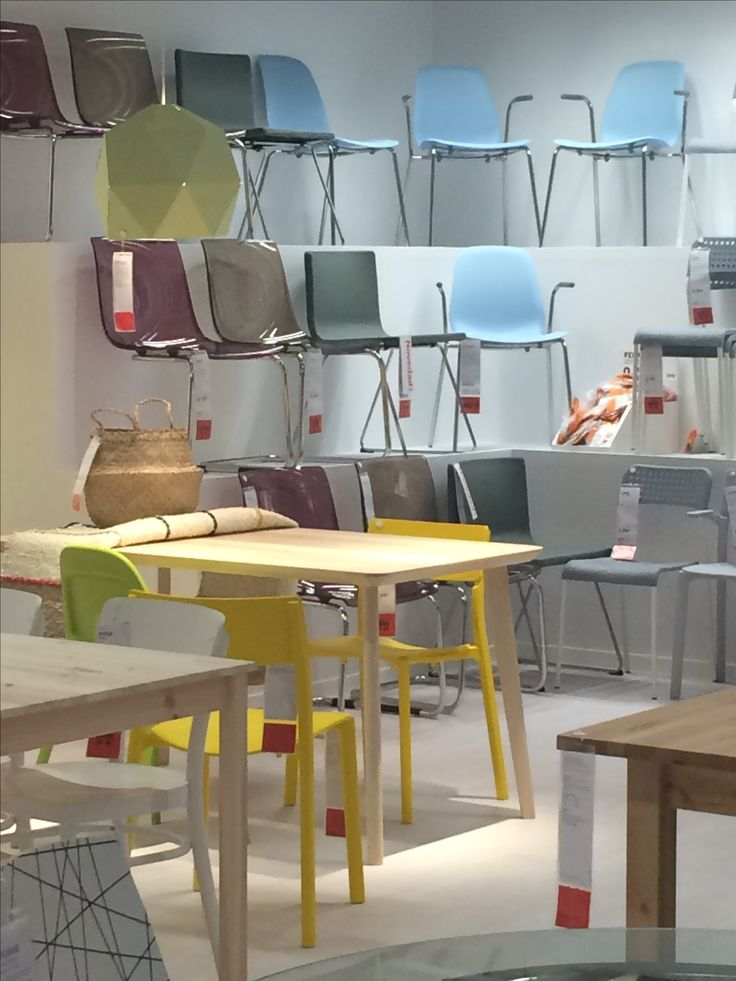 IKEA Alcorcon, Madrid, cool tone chairs