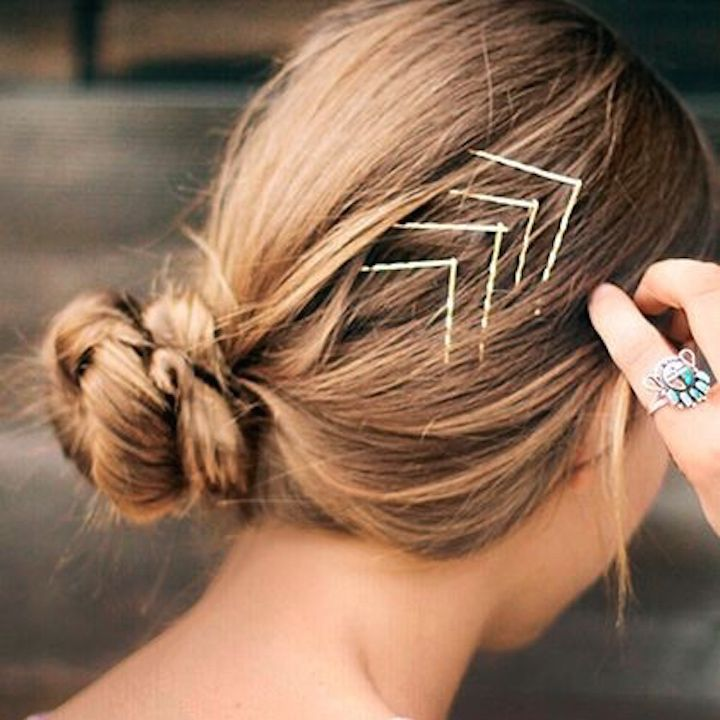 Cool ways to wear bobby pins on Whitney Port's website.