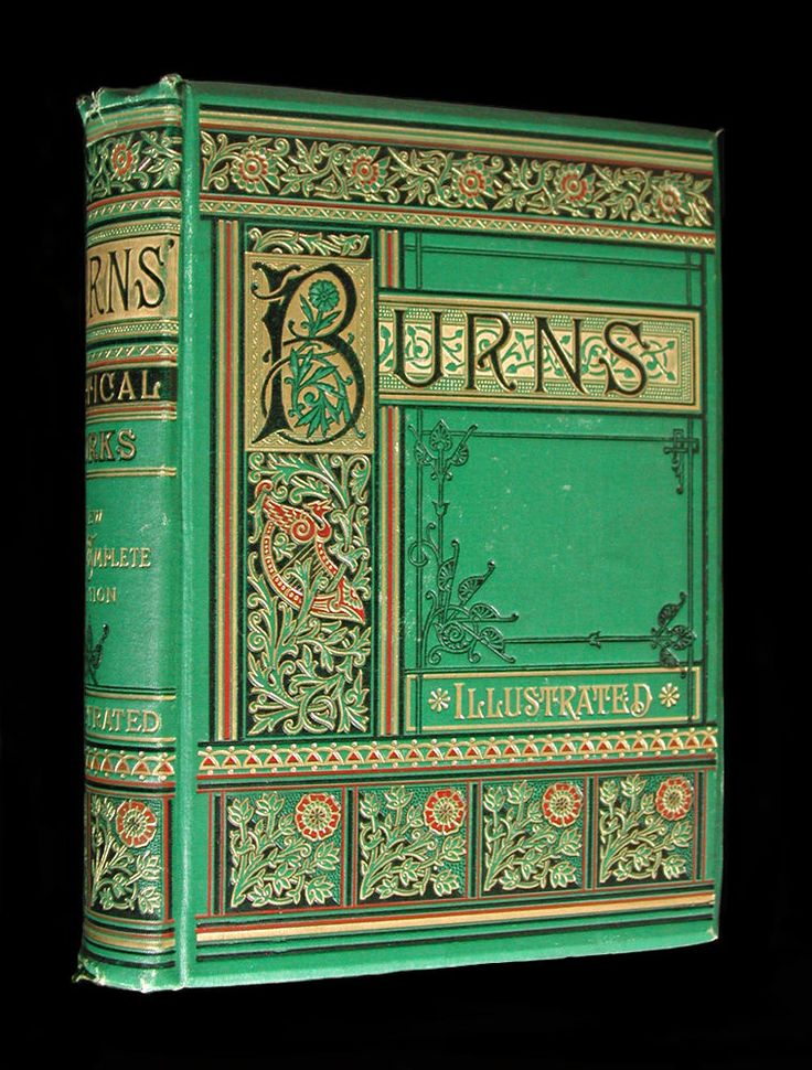 Poetical Works of Robert Burns RARE ILLUSTRATED VICTORIAN FINE BINDING AEG