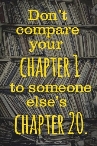 LOVE, LOVE This!!!! Gotta walk in their shoes before thinking you know it all Dont compare your chapter I to someone else's chapter 20. #Attitude