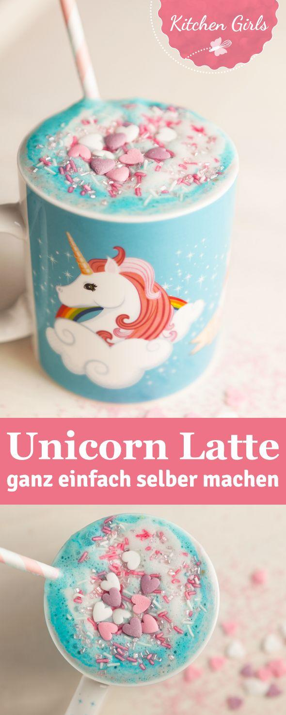 Unicorn Latte - der neue GESUNDE Trend aus New York! Wir haben das Rezept für diesen schnellen veganen Einhorn-Drink für euch!