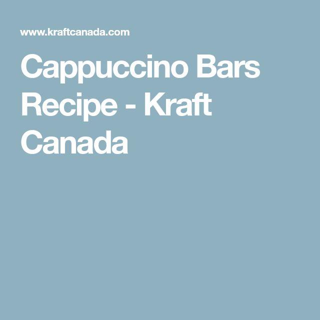 Cappuccino Bars Recipe - Kraft Canada