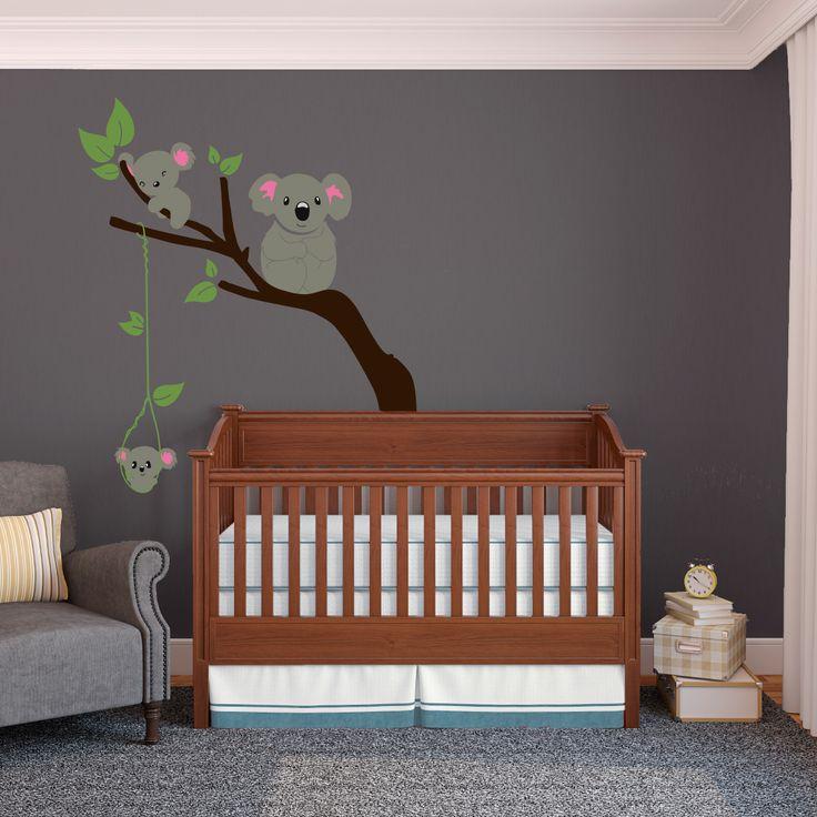 Les 32 meilleures images du tableau peinture murale chambre b b sur pinterest peintures - Stickers koala chambre bebe ...