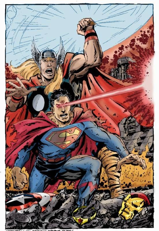 thor and superman crossovers and mashups pinterest crossover