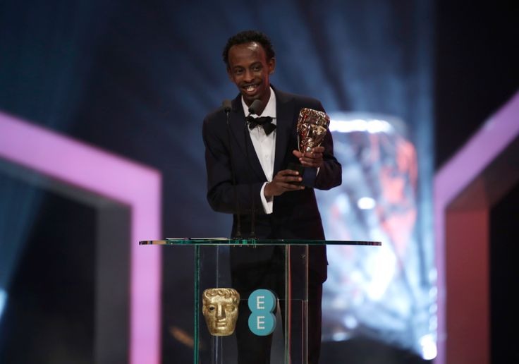 Barkhad Abdi wins the BAFTA Film Award for Supporting Actor for Captain Phillips