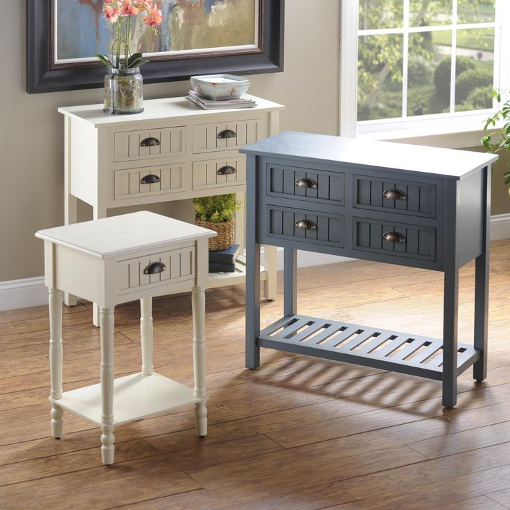Add country charm to your home with our Buttermilk Beadboard Tables  The  simple design and smooth finish makes these fit in your kitchen  bedroom or  living. 158 best Storage   Organization images on Pinterest   Storage