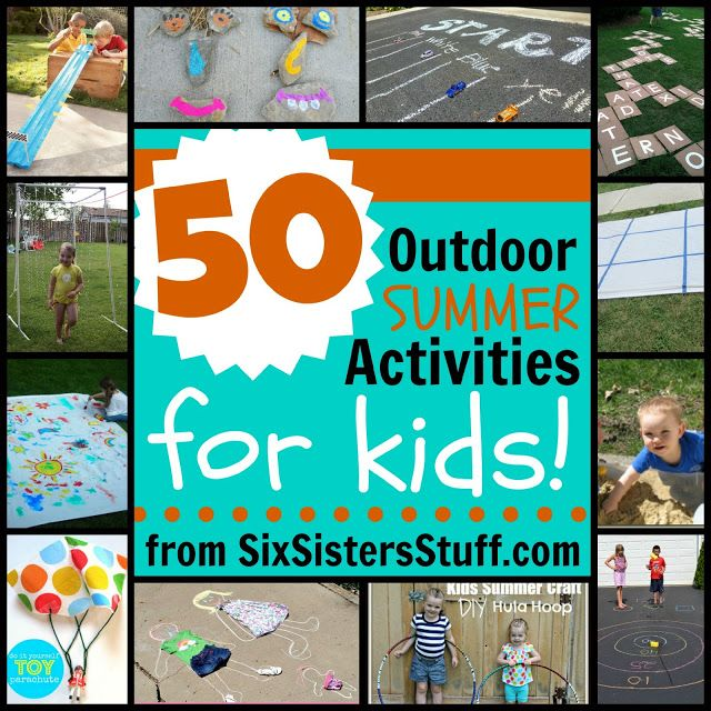 50 Outdoor Summer Activities For Kids from Sixsistersstuff.com. Love this list! Always need ideas!