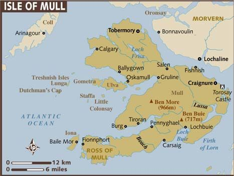The Isle of Mull on the west coast of Scotland is my Scottish-American family's ancestral home. We are Scottish on Dad's side. The original spelling of our name is Maclean. My ancestors left their homeland during the Highland Clearances and before the American Revolution, coming to Savannah, GA. I was the first modern McLane/Maclean of my lineage to go back to Mull, though several of my uncles and cousins have now been there, too.