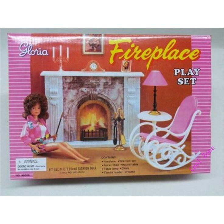 Cheap Miniatura muebles chimenea para Barbie Doll House pretender ...