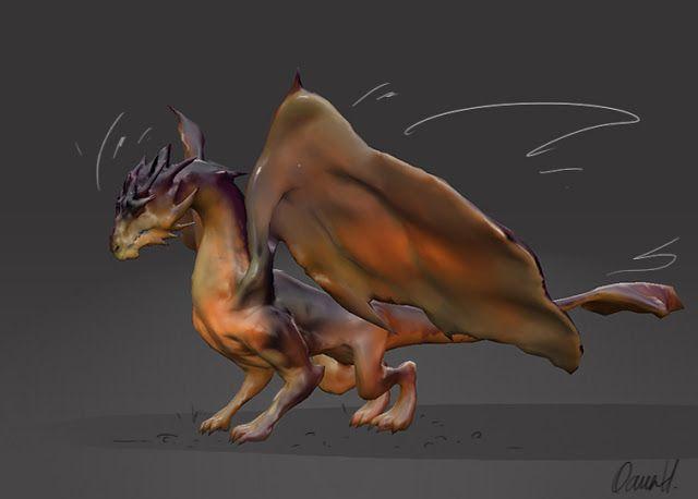 Oana's Artblog: A quick-tempered dragon