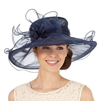 Hatbox Navy oversized bow hat | Debenhams