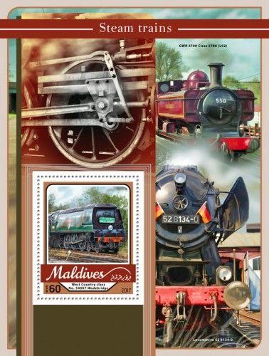 MLD17107b Steam trains (West Country class No. 34007 Wadebridge)