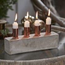 Adventsstage, beton/kobber