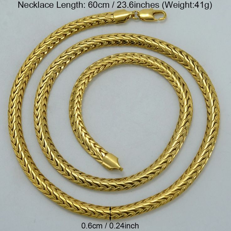 6MM 60CM Gold Chain Necklaces Men Gold Plated African Hip Hop Jewelry Chunky Chain Arab Items/Brazil/Nigeria Gifts #052302