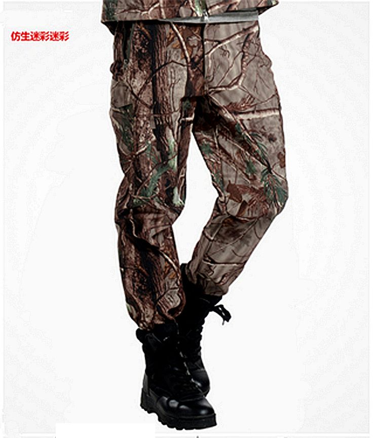 TAD Shark Skin Army Pants Waterproof Windproof Outdoors CS Camouflage Pants Men Fleece Trousers Military #jewelry, #women, #men, #hats, #watches