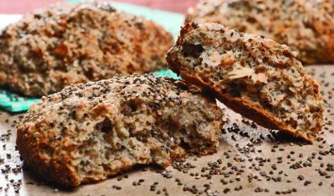 Sunde og lækre boller med bid i - gode til både morgenmad, frokost og som tilbehør til aftensmaden.