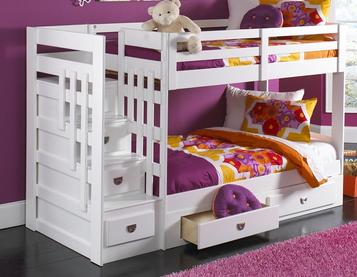 Featuring Two Comfy Twin Size Beds And A Bright White Finish To Match With Any Decor Along With