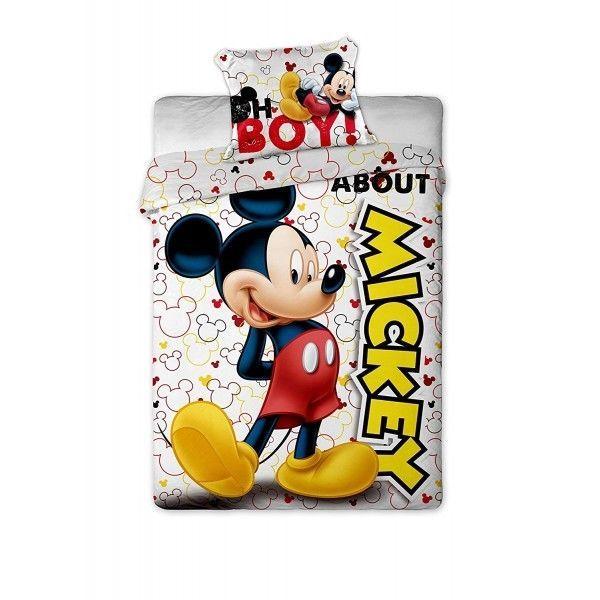 (215) Housse de couette Mickey avec Taie d'oreiller