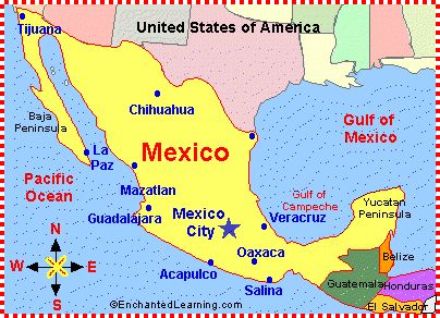 information about mexico with map