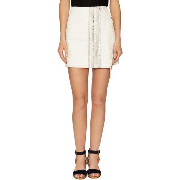 Alex + Alex Women's Carola Linen Jacquard Panel Pencil Skirt -... ($46) ❤ liked on Polyvore featuring skirts, white, pencil skirt, white pencil skirt, jacquard pencil skirt, fringe skirts and panel skirt