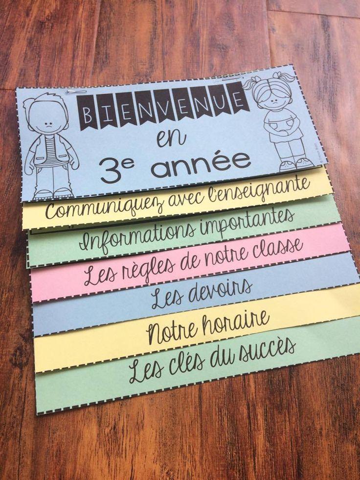 La Rentr 233 E Scolaire Flip Book French Back To School
