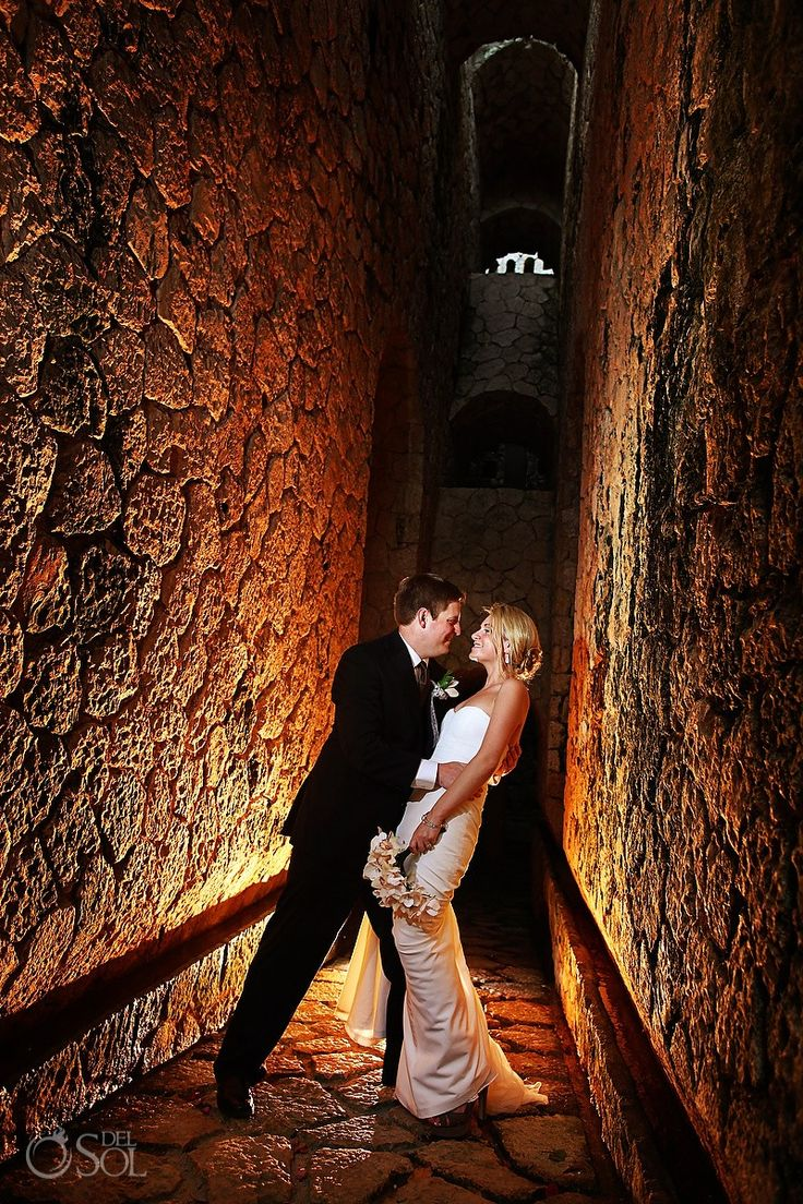 Emily and Jim at their beautiful Mexico destination wedding at Xcaret Park. Photo by Juan of Del Sol Photography
