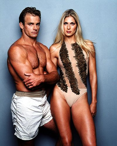 Good Lord. I want to BE these people. Laird Hamilton (Big Waves) & Gabrielle Reese (Volleyball). Married.