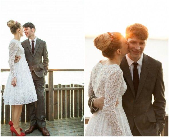The couple -- a rustic Swedish Wedding