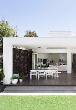 The rear wall was removed to make way for an extension to house a new dining and living zone | Home Beautiful Magazine Australia