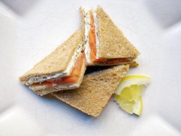 Salmon & Dill Tea Sandwiches