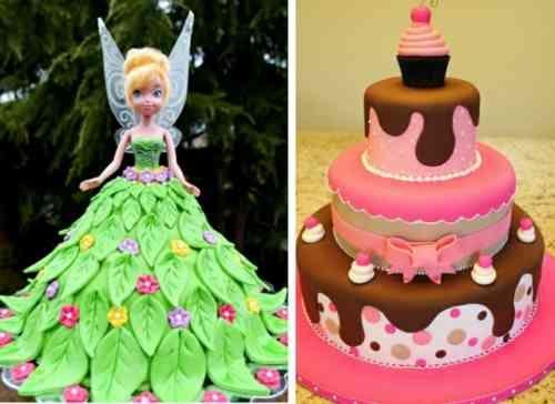 La fée clochette forme un gâteau à part entière