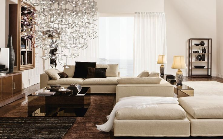 South Scandinavian style white and black living room, Barovier & Tosco. http://www.kenisahome.com/blog