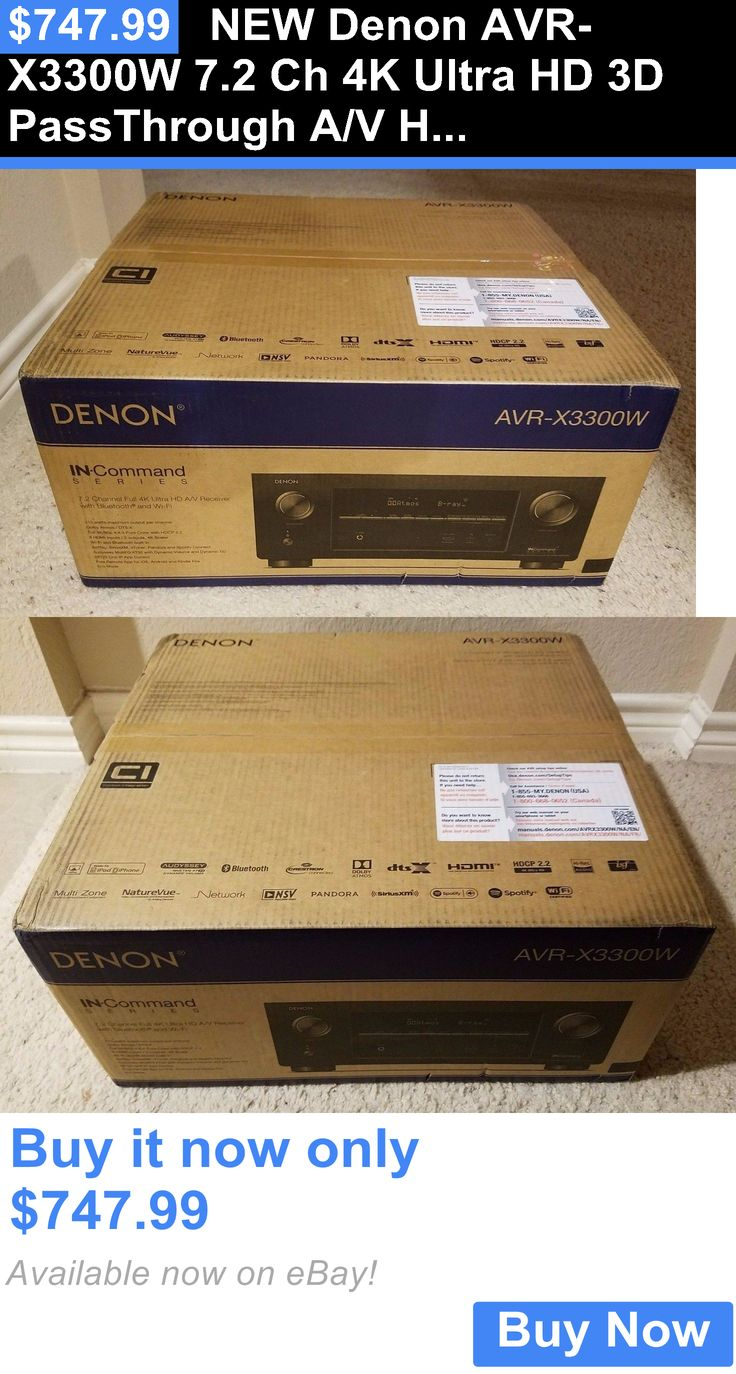 Home Theater Receivers: New Denon Avr-X3300w 7.2 Ch 4K Ultra Hd 3D Passthrough A/V Home Theater Receiver BUY IT NOW ONLY: $747.99