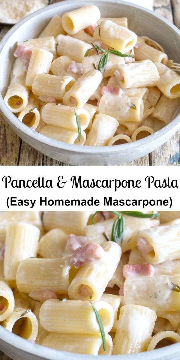 A Simple Creamy Full Of Flavour Pasta Dish Mascarpone Pasta Made