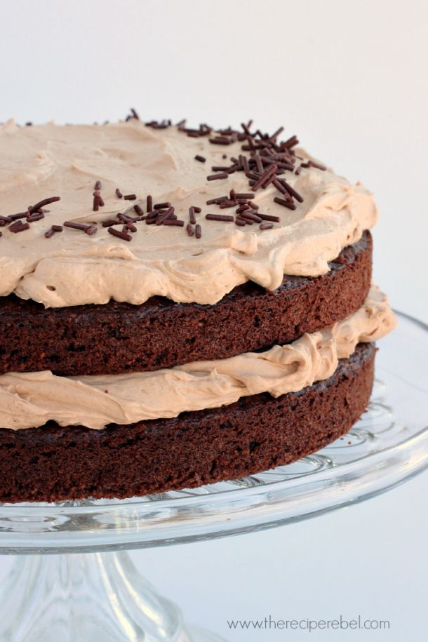 Flourless Mexican Chocolate Cake with Buttermilk Milk Chocolate Frosting: a rich, naturally gluten-free chocolate cake with cinnamon and a hint of cayenne, smothered in creamy, tangy chocolate frosting. No weird flours or gums! www.thereciperebel.com