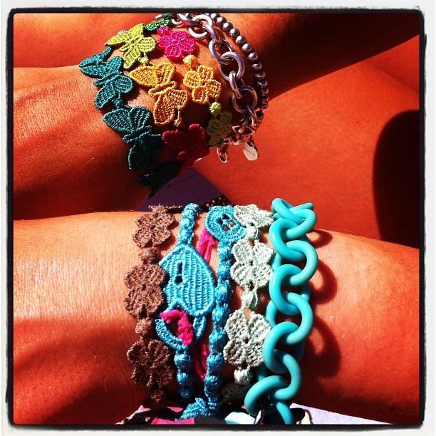 Colors, colors, colors!  Cruciani Bracelets