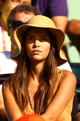 Standing out in a crowd: model Zaira Nara in a floppy straw hat.