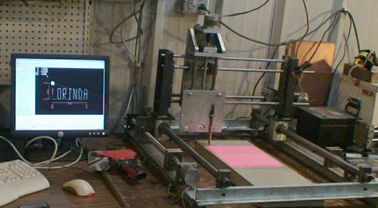 CNC Router Table by oldvan -- Homemade CNC router table constructed from surplus parts and online-sourced materials. Utilizes Ubuntu and EMC2 software to drive the rig. http://www.homemadetools.net/homemade-cnc-router-table